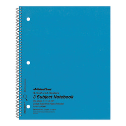 """National® Brand Kolor-Kraft Cover Notebook, 8 7/8"""" x 11"""", 1 Subject, College Ruled, 50 Sheets, Blue"""