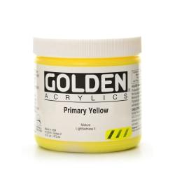 Golden Heavy Body Acrylic Paint, 16 Oz, Primary Yellow