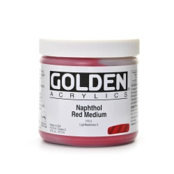 Golden Heavy Body Acrylic Paint, 16 Oz, Naphthol Red Medium