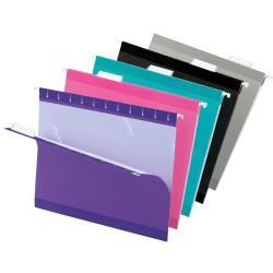 Pendaflex® Premium Reinforced Color Hanging Folders, Letter Size, Assortment #2, Pack Of 25
