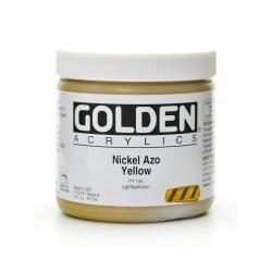 Golden Heavy Body Acrylic Paint, 16 Oz, Nickel Azo Yellow