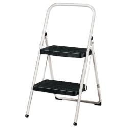 Cosco® 2-Step Ladder, Black/Cool Gray