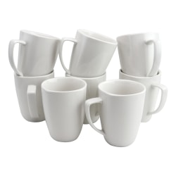 Gibson Home Zen Buffetware Mug Set, White