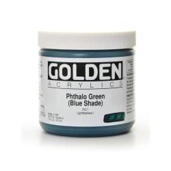 Golden Heavy Body Acrylic Paint, 16 Oz, Phthalo Green/Blue Shade