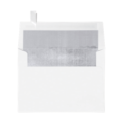 """LUX Invitation Envelopes With Peel & Press Closure, A7, 5 1/4"""" x 7 1/4"""", Silver/White, Pack Of 50"""