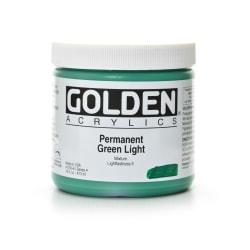 Golden Heavy Body Acrylic Paint, 16 Oz, Permanent Green Light