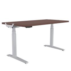 "Fellowes® Levado Height-Adjustable Desk, 72""W, Mahogany"