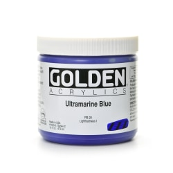 Golden Heavy Body Acrylic Paint, 16 Oz, Ultramarine Blue