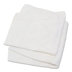 "HOSPECO® Woven Terry Rags, 15"" x 17"", White, 25 Lb"