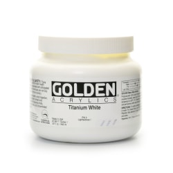 Golden Heavy Body Acrylic Paint, 32 Oz, Titanium White