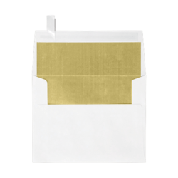 """LUX Invitation Envelopes With Peel & Press Closure, A2, 4 3/8"""" x 5 3/4"""", Gold/White, Pack Of 500"""