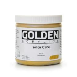 Golden Heavy Body Acrylic Paint, 16 Oz, Yellow Oxide