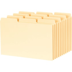 Esselte Blank Index Card File Guide - Manila Tab(s)