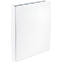 "Samsill Economy 1"" View Ring Binder - 1"" Binder Capacity - Letter - 8 1/2"" x 11"" Sheet Size - 200 Sheet Capacity - 3 x Round Ring Fastener(s) - 2 Internal Pocket(s) - Polypropylene-covered Chipboard, Chipboard - White"