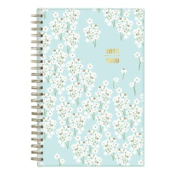 """Blue Sky™ Snow & Graham Doodle Academic Weekly/Monthly Planner, 5"""" x 8"""", Bunches Light Blue, July 2019 to June 2020"""