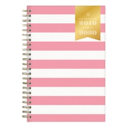 "Day Designer Academic Daily/Monthly New Pink Stripe Planner, 5"" x 8"", July 2019 to June 2020"