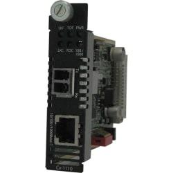 Perle CM-1110-S2LC40 Gigabit Ethernet Media Converter - 1 x Network (RJ-45) - 1 x LC Ports - DuplexLC Port - 10/100/1000Base-T, 1000Base-EX - Internal