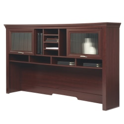 "Realspace® Magellan Performance 71""W Hutch For L-Desk, Cherry"