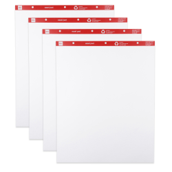 """Office Depot® Brand Standard Easel Pads, 27"""" x 34"""", 30% Recycled, White, 50 Sheets Per Pad, Pack Of 4 Pads"""