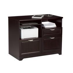"Realspace® Magellan 36""W Tech Station Printer Stand 2.0, Espresso"