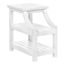 "Powell Dutton 2-Shelf Side Table, 23""H x 14""W x 24""D, White"