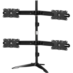 "Amer Quad Monitor Stand Mount Max 32"" - Up to 32"" Screen Support - 105.82 lb Load Capacity - 38"" Height x 42"" Width x 12.9"" Depth - Desktop - Aluminum Alloy, Plastic, Steel - TAA Compliant"
