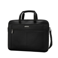 "Samsonite® 15.4"" Single Gusset Computer Case, Black/Gray"