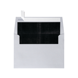 "LUX Foil-Lined Invitation Envelopes With Peel & Press Closure, A4, 4 1/4"" x 6 1/4"", Silver/Black, Pack Of 500"