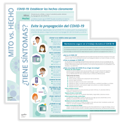 ComplyRight™ Coronavirus (COVID-19) Prevention Posters And Handouts, Spanish, Pack Of 3 Posters