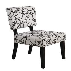 Linon Home Décor Taylor Accent Chair, Black/White