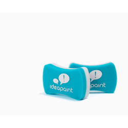 IdeaPaint ACERASER Foam Erasers, Blue/White, Pack Of 2 Erasers