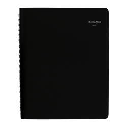 "AT-A-GLANCE® DayMinder Daily 4-Person Group Appointment Book, 8"" x 11"", Black, January To December 2021, G56000"