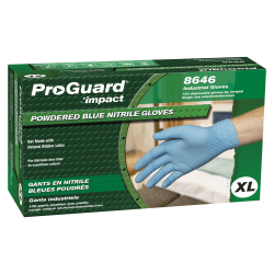 ProGuard General-purpose Disposable Nitrile Gloves, X-Large, Blue, Box Of 100