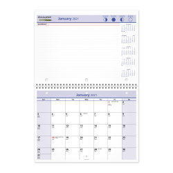 """AT-A-GLANCE® QuickNotes Monthly Desk/Wall Calendar, 11"""" x 8"""", January To December 2021, PM5028"""