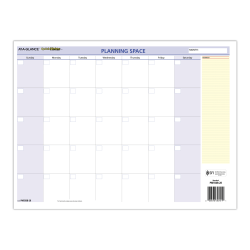 """AT-A-GLANCE® QuickNotes Compact Erasable Monthly/Yearly Wall Calendar, 16"""" x 12"""", January To December 2021, PM550B28"""