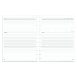 """TUL® Discbound Weekly/Monthly Refill Pages, Letter Size, 8-1/2"""" x 11"""", January To December 2021, TULLTFILR-WM-RY"""