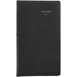 "AT-A-GLANCE® DayMinder® 14-Month Monthly Pocket Planner, 3-1/2"" x 6"", Black, December 2020 To January 2022, SK5300"