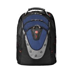 Wenger® Ibex Laptop Backpack, Black/Blue