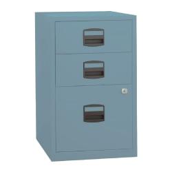 "Bisley PFA 16""D Vertical 3-Drawer File Cabinet, Metal, Metal Blue"
