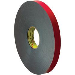 "3M™ VHB™ 4646 Tape, 1.5"" Core, 1"" x 5 Yd., Gray/Red"