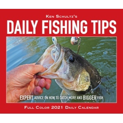 "Willow Creek Press Page-A-Day Daily Desk Calendar, 4-1/4"" x 5-1/4"", FSC® Certified, Daily Fishing Tips, January to December 2021, 14370"
