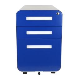 """Bindertek Glide 20""""D Vertical 3-Drawer File Cabinet, Metal, Blue"""