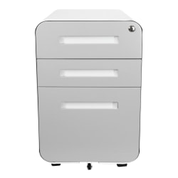 "Bindertek Glide 20""D Vertical 3-Drawer File Cabinet, Metal, Light Gray"