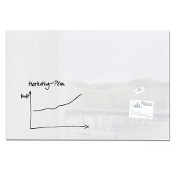 """Sigel Magnetic Dry-Erase Glassboard, 39-3/8"""" x 59-1/8"""", White"""