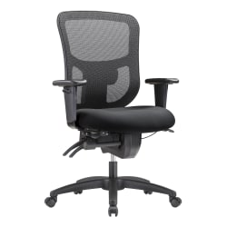 WorkPro® 9500XL Series Big And Tall Mesh/Fabric Mid-Back Multifunction Office Chair, Black