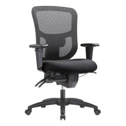 WorkPro® 9500XL Series Ergonomic Mesh/Premium Fabric Mid-Back Big & Tall Chair, Black/Black