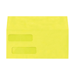 "LUX Double-Window Invoice Envelopes With Peel & Press Closure, #10, 4 1/8"" x 9 1/8"", Citrus, Pack Of 250"
