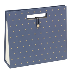 "Office Depot® Expanding File Tote, Letter Size, 11-1/2""H x 12-1/2""H x 4""D, Blue/Gold"