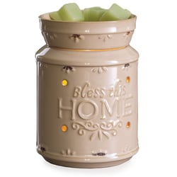 """Candle Warmers Etc Illumination Fragrance Warmers, 8-13/16"""" x 5-13/16"""", Bless This Home, Case Of 6 Warmers"""