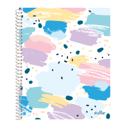 """Office Depot® Brand Stellar Poly Notebook, 8-1/2"""" x 11"""", 1 Subject, College Ruled, 160 Pages (80 Sheets), Splatter"""